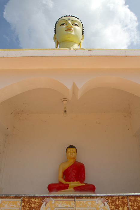 A Buddhist temple in rural Sri Lanka