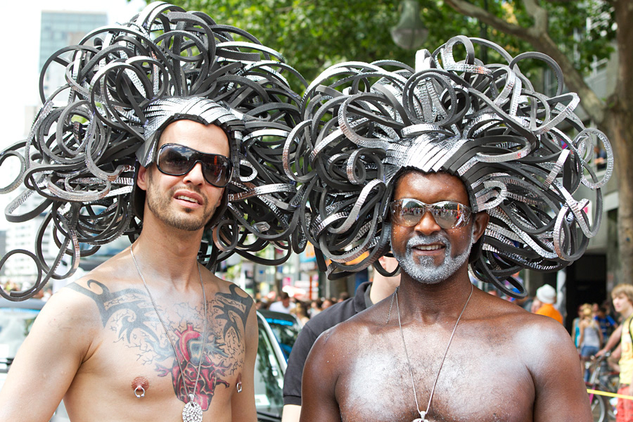 Two participants of the Christopher Street Day parade