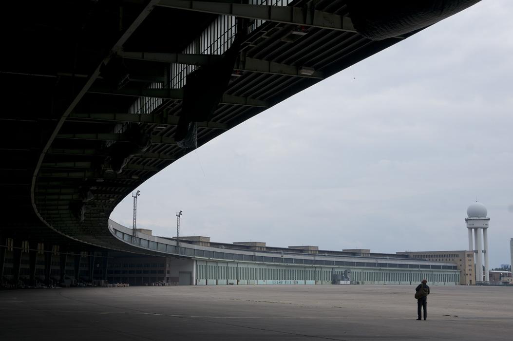 The hangars of former Tempelhof airport