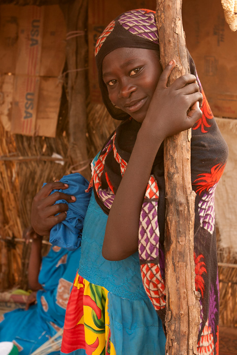 Young woman in a refugee camp in Goz Beida, Chad