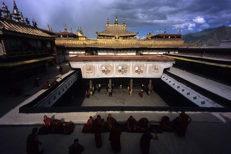 The Jokhang Monastery in Lhasa, one of Tibet's most sacred places