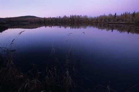 Nenana Pond just after sunset